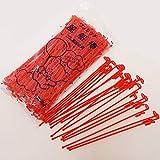 プラスチック棒21cm(100本) 赤色 1701