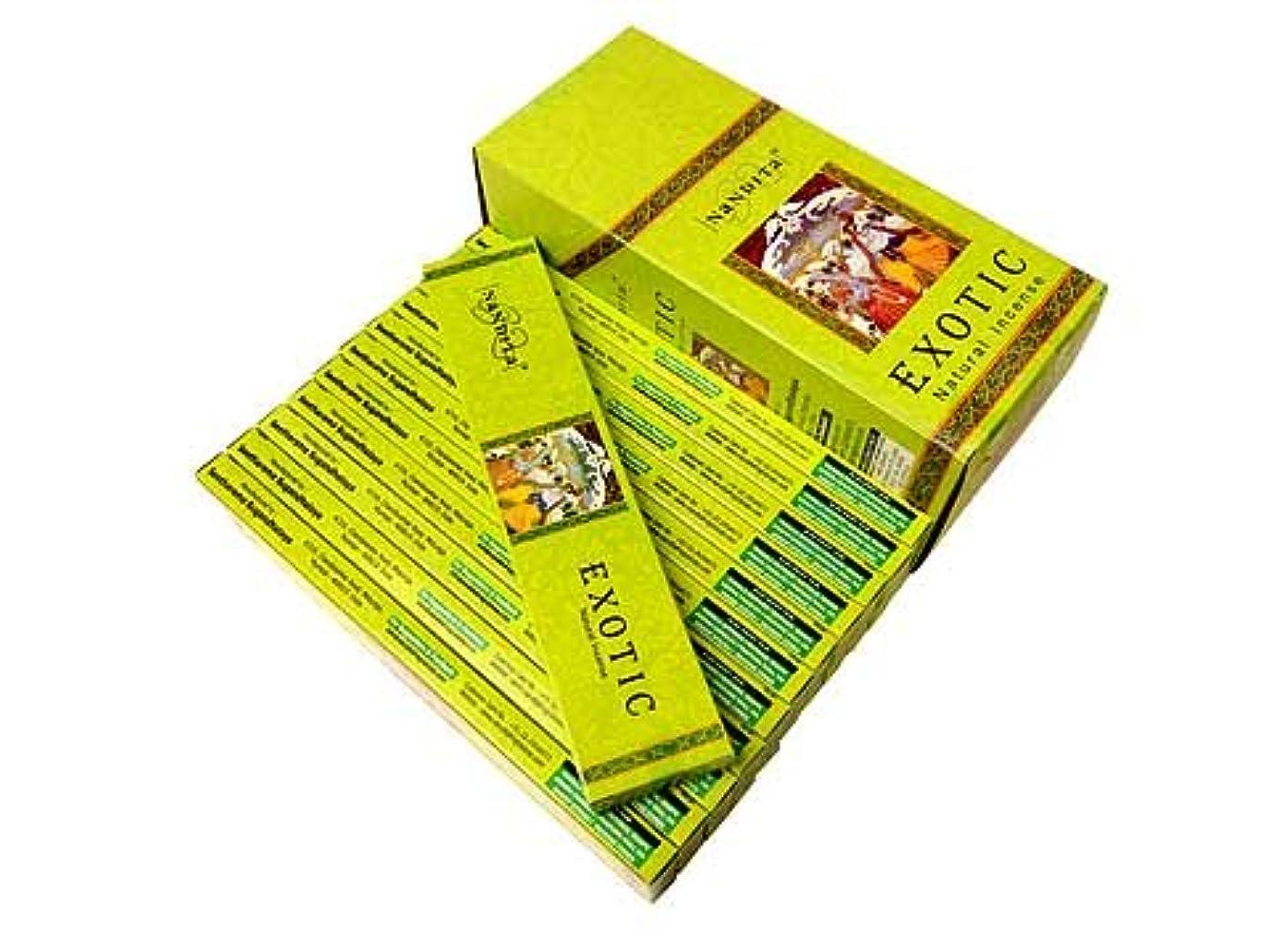 代数的ミル不注意NANDITA(ナンディータ) エキゾチック香 スティック EXOTIC 12箱セット