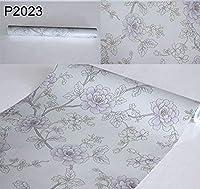 【10M】p2023 薔薇 花柄 フラワー パターン 壁紙 シール リフォーム 多用途 ウォールステッカー はがせる リメイクシート