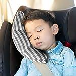 シートベルトカバー 子供 シートベルト 枕 車用品 ショルダーパッド 水洗い可能 旅行 安全 (グレー)