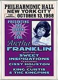 ポスター アレサ フランクリン アレサ フランクリン、ニューヨーク、1968 額装品 アルミ製ベーシックフレーム(ライトブロンズ)