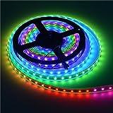 QZT LIGHT LEDテープ 5M 150連 SMD5050 5M/150LED テープ型 正面発光 RGB リモコン操作 カラー選択可能 切断可能  ベース:ホワイト(白)