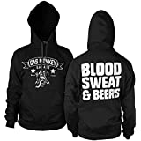 Officially Licensed Merchandise GMG - Blood Sweat & Beers Hoodie