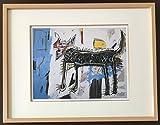 バスキア「オオカミ」ジクレー版画【41.5cm×53cm額縁つき版画】