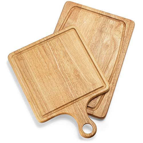 『Best Kitchen Essentials まな板 厚手木製ブロック チョッピングカービングボード 1台 竹製チーズボードオーガナイザー 木製コースター4枚 栓抜き1つ 大型マット1つ 鍋つかみギフトセット』の2枚目の画像