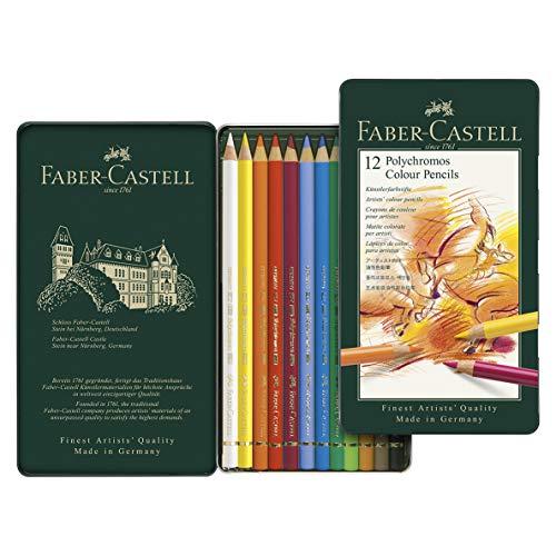 ファーバーカステル ポリクロモス色鉛筆 12色セット