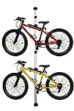 自転車スタンド 天井突っ張り式 スタンド 室内 2台用 自転車 収納 自転車収納 バイク コンパクト