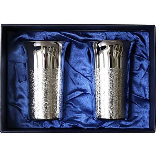 結婚祝い 母の日 ペア 人気 王室御用達 高級銀製 ビールタンブラー Lサイズ ペアギフト 200ml×2本 布貼り箱...