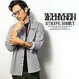 (ゼファレン)ZEPHYREN STRIPE SHIRT WHITE XL