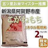 新潟県阿賀野市産ミネラル栽培米「こがねもち」2kg