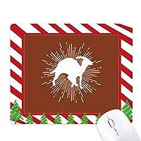 コーナー連帯体形状 ゴムクリスマスキャンディマウスパッド