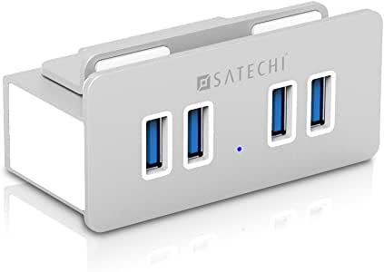 Satechi(サテチ) モニター固定型 プレミアム アルミニウム 4ポートUSB 3.0 ハブ ST-UHA3CL (iMac2012年以降モデル用)