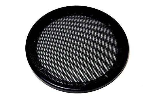 スピーカー グリル カバー 6.5 インチ ブラック ( 6.5 インチ × 2 )...
