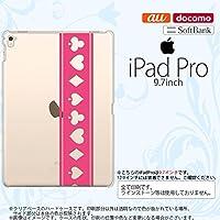 iPad Pro スマホケース カバー アイパッド プロ トランプ(帯) ピンク×クリア nk-ipadpro-530