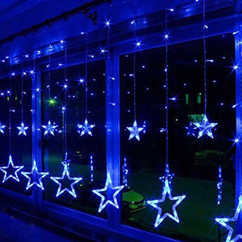 Valuetom 星型 led イルミネーションライト 138球 2.5M 12個星 屋外 防水 ガーデンパーティー クリスマスツリー 飾りライト