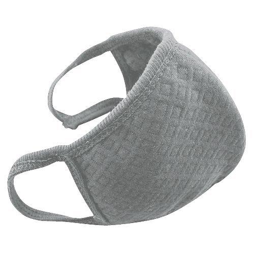 [OneStepAdvance] グレーマスク 5枚セット 綿 フリーサイズ 活性炭入り 個別包装 (グレー)