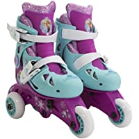 PlayWheels Disney Frozen Glitter Kids Convertible 2-in-1 Skates - Junior Size 6-9 by PlayWheels