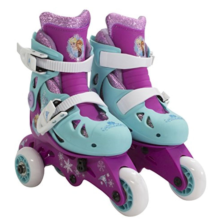 PlayWheels Disney Frozen Glitter Kids Convertible 2-in-1 Skates - Junior Size 6-9 by PlayWheels
