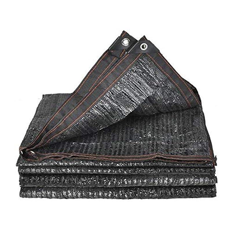 フィラデルフィア滴下港DALL シェードクロス シェード率90% サンメッシュ 日焼け止めネット UV耐性 強化テープ グロメット 複数のサイズ (Color : Black, Size : 4×8m)