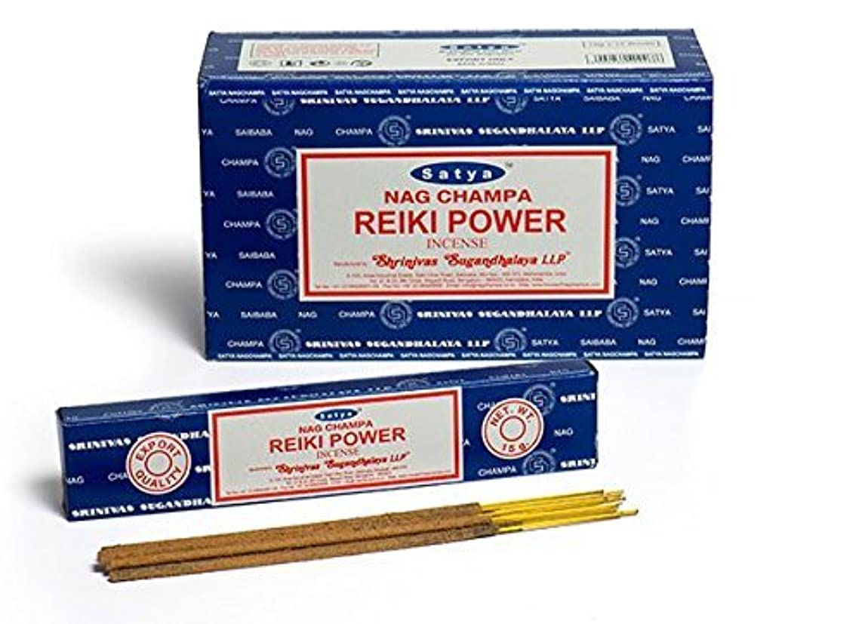 強い防止カテゴリーBuycrafty Satya Champa Reiki Power Incense Stick,180 Grams Box (15g x 12 Boxes)