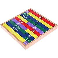 yuuups モンテッソーリ 木製数学教育玩具 クラシックフィギュアスティック 子供用 建設エンジニアリング用 3歳以上 4歳以上 5歳以上 クリエイティブな楽しいキット 最高の柔術