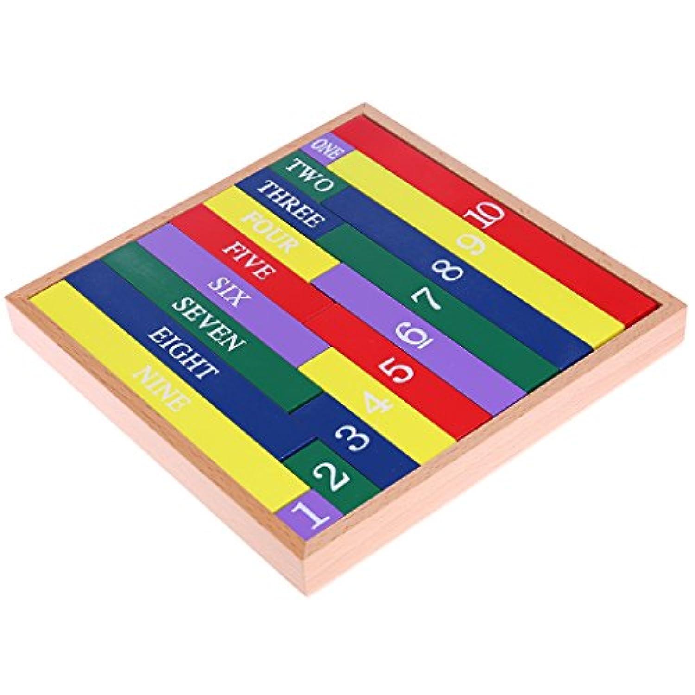 Maeic モンテッソーリ 木製数学教育玩具 クラシックフィギュアスティック