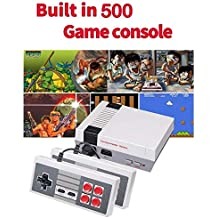 Retro Game Consoles, FC Mini Classic Game Consoles Built-in 500 TV Video Games with Double Controllers