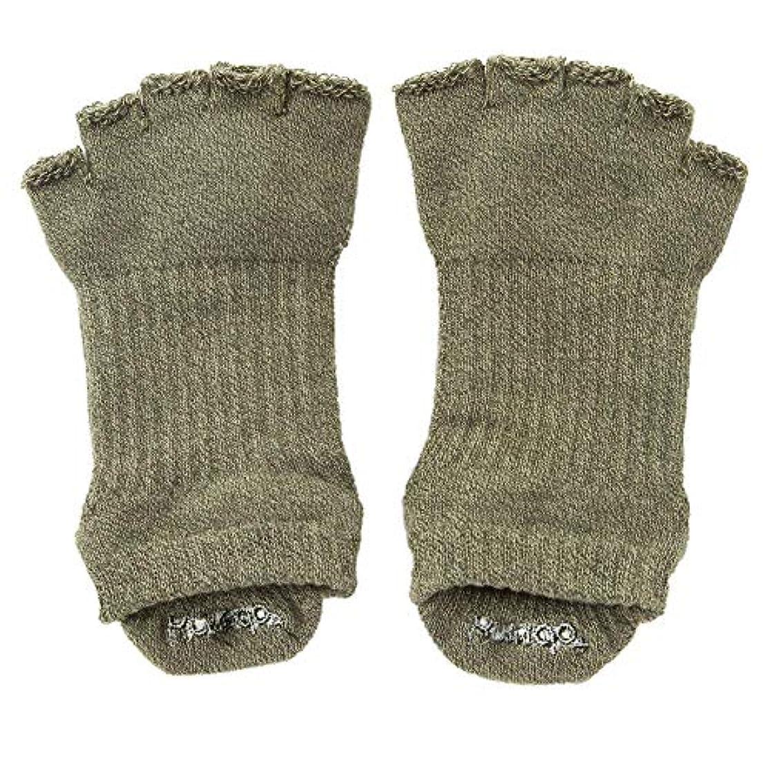 デコレーション不適切な複雑なknitido+(ニッティドプラス)110072 Foot arch 撚杢カラー アンクル指無し(Support Type) 25-27cm ヨガ ピラティス 5本指 ソックス 靴下 日本製 オーガニックコットン