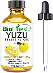 Biofinest Japanese Yuzu Essential Oil - 100% Pure Organic Therapeutic Grade - Best For Aromatherapy, Household