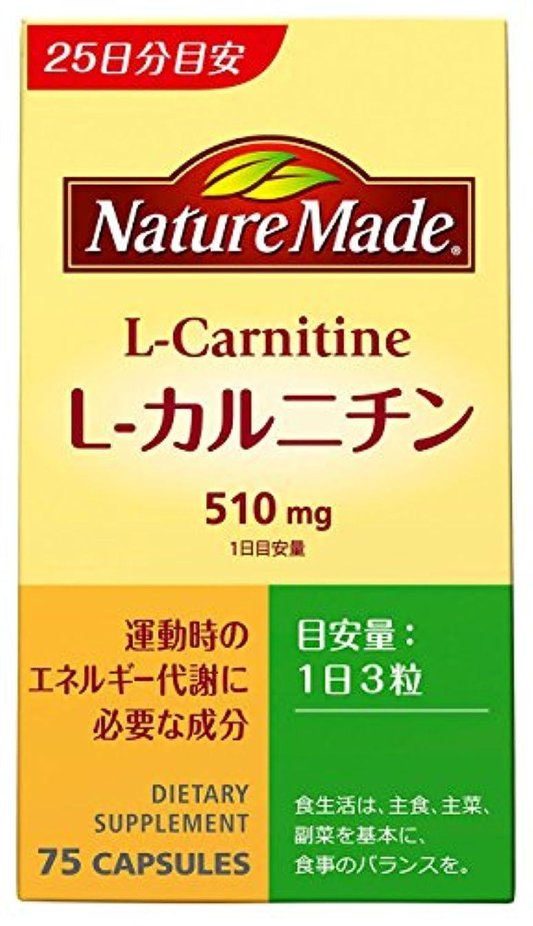 逆に昼寝ひどい大塚製薬 ネイチャーメイド L-カルニチン 75粒