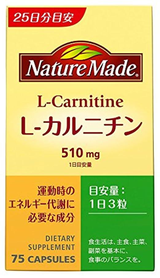 火山の平和的の間で大塚製薬 ネイチャーメイド L-カルニチン 75粒