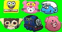 キーケース 鍵カバー キーキャップ スマーフ:ギズモ:スポンジボブ・ケアベア・トーマス・ピンクパンサー (スマーフ)
