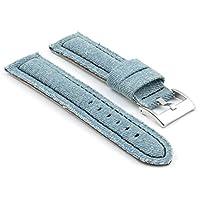 StrapsCo ブルー・ミディアムウォッシュ デニム 時計バンド サイズ 18mm