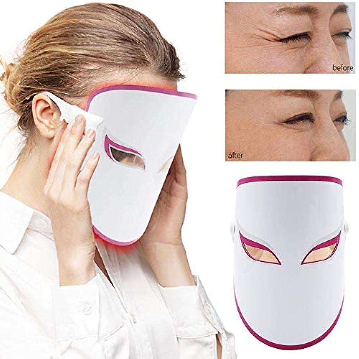 団結発症救急車LEDフェイスマスク - フェイシャル?スキンケア美容マスク療法 - 毛穴を縮小、にきびしわを減らし、肌の若返り - 補充コラーゲン、アンチエイジング