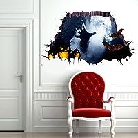 (ビグッド)Bigood 3D 壁紙シール ハロウィン飾り ウォールステッカー 壁貼り デコレーションシール ウォール 部屋 インテリア リフォーム