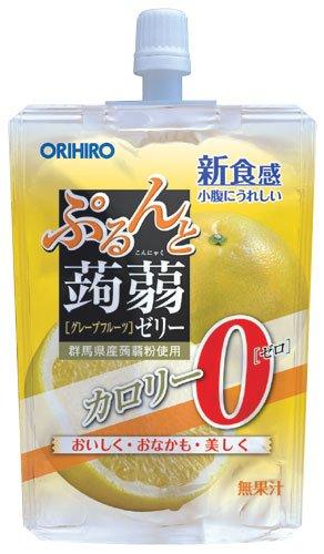 オリヒロ ぷるんと蒟蒻ゼリー カロリーゼロ グレープフルーツ...