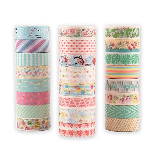 和紙テープ マスキングテープ カラフル ラッピング デコレーション 24巻セット