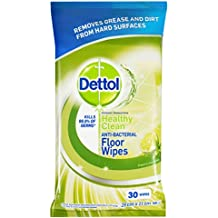 Dettol Antibacterial Floor Wipes Lime & Mint Twin Pack (Count of 30)