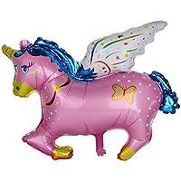 【Phenovo】 誕生日 ベビーシャワー パーティー用  アルミ 風船 バルーン 馬 ポニー型 (ピンク)