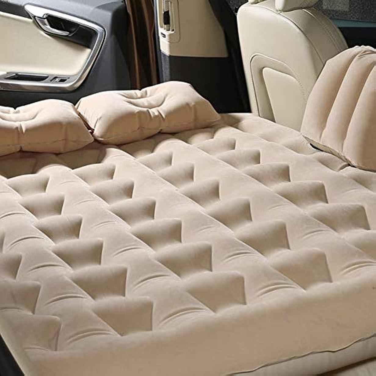 西部評論家終わりLacyie 車中泊 エアーマット エアーベッド ベッドキット SUV MPV 車 トラックのための後部座席クッション 旅行ベッドリアカーエア 135*80cm