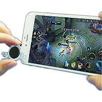 VINSOO 任意のスマートフォン、タブレットアーケードゲームのためのすべてのタッチスクリーンのスマートフォンミニゼロタッチスクリーンジョイスティックのためのポータブルゲームのための3倍の携帯電話ゲームのミニジョイスティックコントローラ