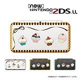 【Newニンテンドー2DS LL 】 カバー ケース ハード ケーキ ドット クリア カワイイ