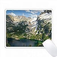 アルパイン湖とピーク、Sawtooth NF、Sawtooth Recreationエリア、アイダホ PC Mouse Pad パソコン マウスパッド