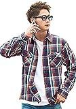 (キャバリア)CavariA メンズ チェック柄 ヘビーウェイト ネルシャツ (トップス インナー 15色 厚手 服) 44(M) G