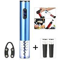 Electric Wine Opener、コードレスバッテリーPoweredワイン栓抜きホイルカッター、メタリック仕上げで ブルー WO-ELEC
