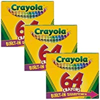 CrayolaクレヨンW / Built in Sharpener 64 / Pkg 52 – 064d ; 3 Items / Order