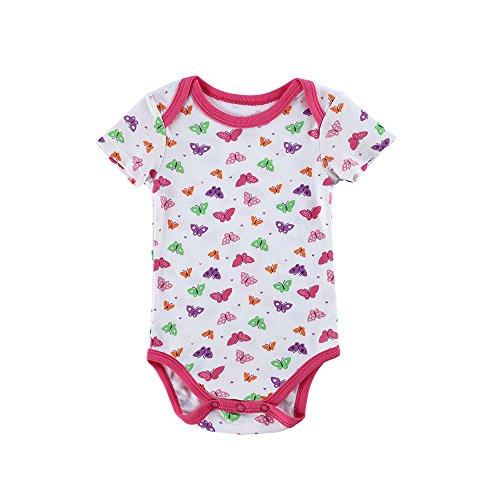 0081ecf49e4f6 エルフ ベビー(Fairy Baby)ベビーカバーオール ロンパース ボディスーツ 肌着 半袖 女の子 出産祝い