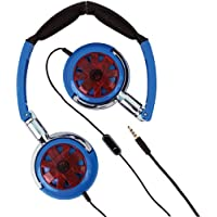 Wicked Wi-8150 Tour Headphones With Microphone (Blue) by Wicked Audio