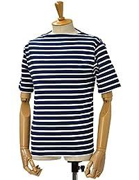 SAINT JAMES【セントジェームス】ボートネック半袖カットソー ピリアック PIRIAC MARINE/NEIGE(ネイビー/ホワイト)