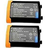 [WELLSKY] [ 2個セット ] Nikon ニコン EN-EL4a / EN-EL4 互換バッテリー [ 純正品と同じよう使用可能 純正充電器で充電可能 残量表示可能 ] D2X / D2Xs / D2H / D2Hs / D3 / D3S/ D3X / D700 / D300S / D300